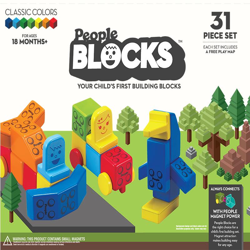 People Blocks classic 31 pcs